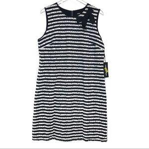 NWT Karl Lagerfeld Striped Lace Dress w/ Bow 14